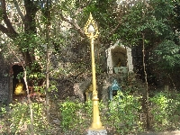 Buddhist altars close to the fort