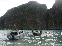Longtail boats on Ko Phi Phi