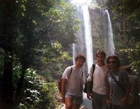 At the Misol-Ha Waterfalls.