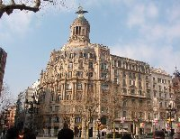 Tourist attractions of Barcelona, Spain.