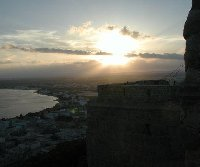 Sunset over Tunis.