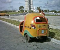 The Cocotaxi in Cuba.