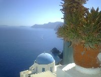 Photos of Santorini in Greece.
