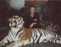 Photo with the tiger in Bangkok.