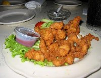 Typical dish in Miami, fried crocodile!