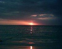 Sunset over Negril, Jamaica.