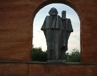 Statues of Marx and Engels, Budapest.
