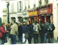 French quarter of Montmartre in Paris.