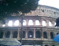 Photo of the Colosseum in Rome, Italy.