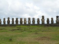 Pictures of Rapa Nui Moai sculptures