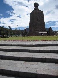 Mitad del mundo monument in Ecuador