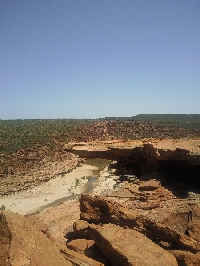 River view from Nature's Window, Kalbarri