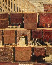 Uzbekistan rugs and carpets in Bukhara