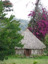 Traditional Kanak villages on the island of New Caledonia