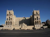 Pictures of the Azerbaijani parliament in Baku