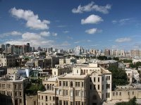 Panoramic view from Maiden Tower, Baku, Azerbaijan