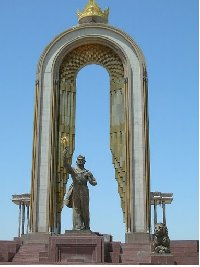 Pictures of the Monument of Ismail Samani on Rudaki Avenue, Dushanbe