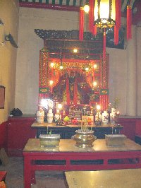Altar inside the Man Mo Temple in Hong Kong