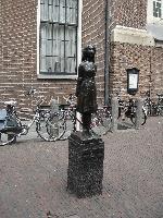 Anna Frank's statue