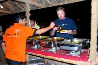 food at evening safari in dubai