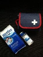 First Aid kit,wipes,hand sanitizer