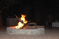 Camp fire at the boma of Treetops