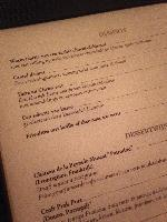 The Dessert Menu at Red Amsterdam