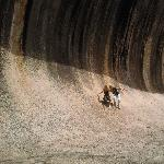 Wave Rock Australia Together in the waves