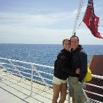 On the ferry, Kangaroo Island Australia
