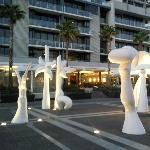 Docklands arty esplanade
