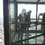 Eureka glass box from 88th floor!!