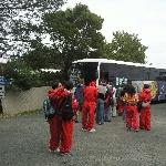 Hupping on the Tasman Charter bus, Port Arthur Australia