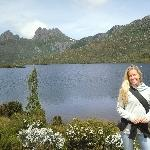In front of Dove Lake, Launceston Australia