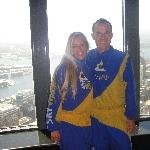 Ready to do the Sydney Tower Sky Walk, Sydney Australia