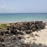 Rocky beach in Byron Bay