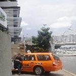 Brisbane Australia Brissy yellow cabs on Quay