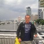Crossing the bridge in Brisbane