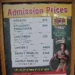 Beerwah Australia Look at those entrance fees....
