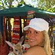 Holding a joey kangaroo!