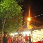 Market stands on the Fitzroy River, Rockhampton Australia