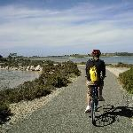On our hired bikes around Rottnest