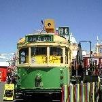 Melbourne Australia Wooden train at Luna Park in Melbourne