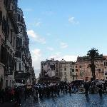 Rome Italy Piazza di Spagne in Winter Time