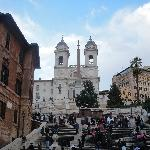 Rome Italy The church on Piazza di Spagna