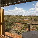 Balcony overlooking Uluru at Desert Gardens