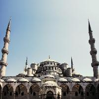 Istanbul Turkey Blue mosque External