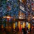 New York United States City Sidewalks. Christmas