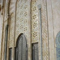 Amazing mosaic on the Hasan II Mosque, Casablanca Morocco