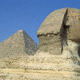 The Human head of the Sphinx in Giza
