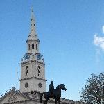 London United Kingdom St Martin in the Field Church and Statue